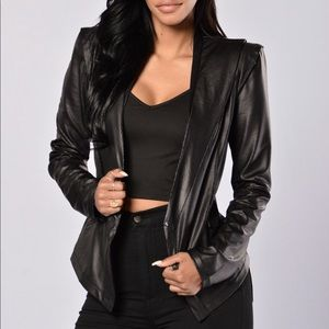 Reptilia Vegan Leather Jacket - Black SIZE SMALL